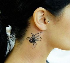 scary spider tattoo