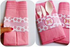 how to make a paper napkin pouch