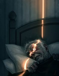 Illustration/Painting/Drawing inspiration, this reminds me of that Edgar Allen Poe story, Tell Tale Heart.