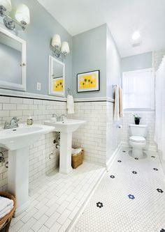 Subway Tile Bathroom Beadboard Upstairs Bathroom On Pinterest Tile