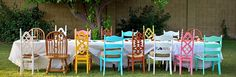 All Kinds of Chairs and Colors~  Love it~
