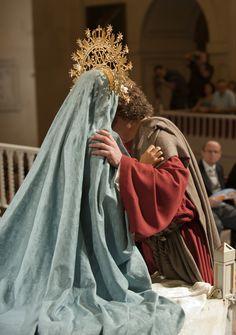 Sant Pere i la Verge Maria #MisteridElx Foto: Sixto Marco