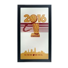 391ab974aed Trademark Cleveland Cavaliers 2016 NBA Chamipons Framed Logo Mirror  (Cleveland Cavaliers 2016 NBA Chamipons)