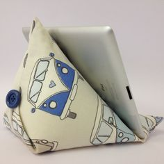 Campervan fabric Tablet Cushion / Stand for Ipad by FredasBarn, £15.00