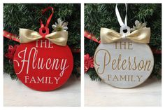 """Wooden Family Name Ornament 6"""""""