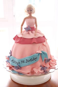 Pink Barbie Cake. So making this one day!!!!!