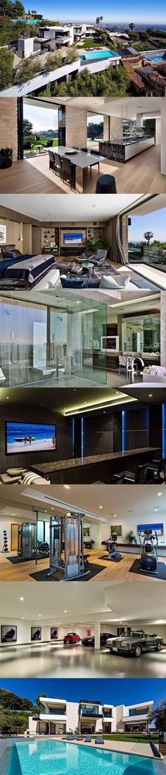 Architecture   Stunning Home Inspiration   Design & Luxury   Modern Contemporary Sunset Strip Mansion With Breathtaking Views via @blog.styleestate