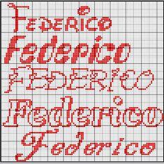 Federico1 North Face Logo, Names, Cross Stitch