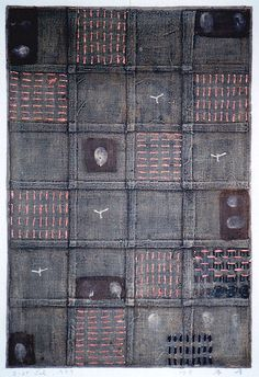 D-27.Jul.1999 mixed media painting on paper 43.5 x 29.5cm HAYASHI Takahiko 林孝彦