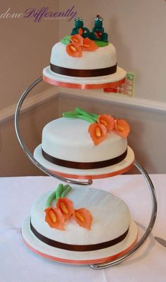 Simple One To On How Make A Wedding Cake From Start Finish Pinterest And As