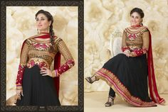 Kareena Kapoor Black Pure Georgette Anarkali Suit Design No :- 18333 Product :- Unstitched Salwar Kameez Size :- Max 40 Fabric :- Georgette Work :- Heavy Embroidery Work Stitching Charges :- र 400 Price :- र 4769  For Sales Queries :- sales@manjaree.in OR call on 0261-3131669  For More Information :- http://manjaree.in/  Follow Our Blog :- http://manjareefashion.blogspot.in/