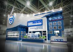 exhibition stand GAZ on Behance