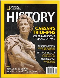 National Geographic History July August 2019: Various: Amazon.com: Books National Geographic History, National Geographic Cover, National Geographic Expeditions, National History, History Magazine, Newspaper Printing, Amelia Earhart, Stunning Photography, American Pride