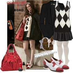Blair Waldorf Style- too cute! i wish my uniform was that cute