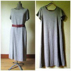 Grey Minimalist Dress long loose oversized baggy by MySoftParade . . . .   . . . #minimalistdress #minimalist #grey dress #grey #dress #minimalist fashion #minimalist clothing