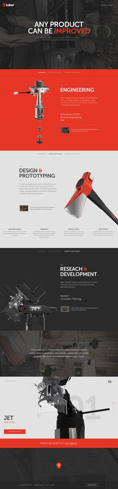 Responsive one pager for 'Kaber' - a US based consultancy that helps bring innovative products to market. I really like that off-canvas contact form, possibly the first I've seen. The background videos are great but perhaps make the overall design seem a touch busy amongst the large text and big product imagery. That being said, the parallax scrolling is slick but subtle enough to still be considerate to the user's reading experience.