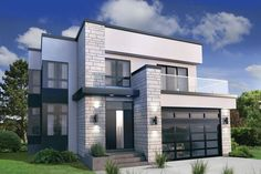 modern elegant diy deck house plans modern house plan has a second floor master suite with a wraparound deck 3 beds 25 baths 2300 sq ft plans are ready when you are Contemporary Style Homes, Contemporary House Plans, Modern House Plans, Modern House Design, Contemporary Design, Contemporary Architecture, Modern House Exteriors, Modern Style Homes, Modern Bungalow