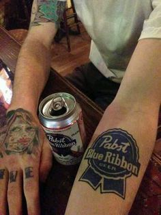Pabst Blue Ribbon Tattoo