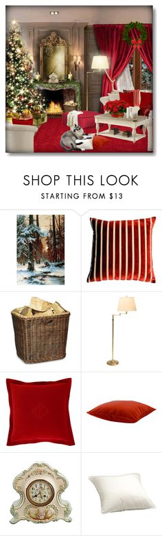 """Holiday room ... !!!"" by qiou ❤ liked on Polyvore featuring interior, interiors, interior design, home, home decor, interior decorating, Pillow Decor, OKA, Ethan Allen and Ralph Lauren Home"
