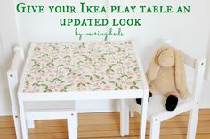 While Wearing Heels: Ikea Table Makeover