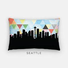 Seattle skyline pillow  Seattle pillow  Seattle Washington