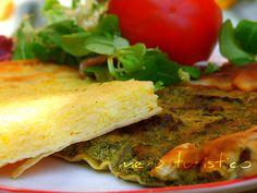 Torta di riso con parmigiano alla ligure e  torta di verdure miste - menù turistico