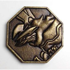Pokemon 2014 Metal Collection XY#1 Yveltal Coin (Bronze Version)