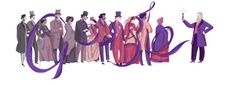 Google celebrates the birthday of Perkin, who created the first of the aniline dyes, a purple mauve colour.