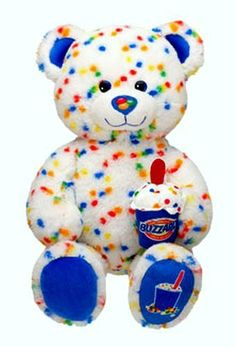 Build a Bear Workshop Candy Confetti Sprinkles Blizzard Scented DQ Dairy Queen Ice Cream Themed Teddy. Stuffed Plush Toy Animal Includes Plush Scented Blizzard Cup Accessory that Smells YUMMY! Beanie Bears, Beanie Babies, Custom Teddy Bear, Candy Sprinkles, Rainbow Sprinkles, Dairy Queen, Cute Stuffed Animals, Bear Doll, Build A Bear
