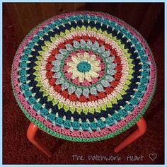 Crochet stool top