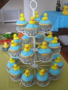 Cupcake tower from my son's 1st birthday party