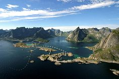 Lofoten Islands in Norway. Book your stay in Lofoten with HIhostels.com. Try mountain trekking, cycling, winter sports and even arctic surfing! Northern Lights visible from end of August to April.