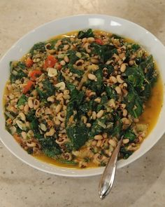 Slow-Cooked Black-Eyed Peas with Wild Greens and Lemon - Martha Stewart Recipes