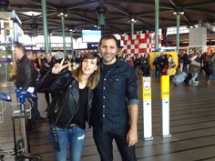 Natalia Tena & Alejo Flah At the AirPort
