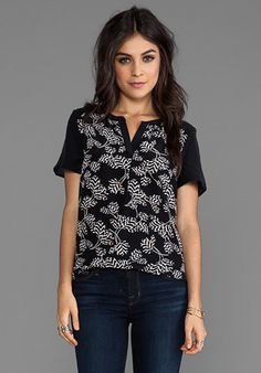 Marc by Marc Jacobs Rae Rae Tulip CDC Top in Black Multi