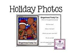 Speech Time Fun: Holiday Photos - Differentiated Language! Pinned by SOS Inc. Resources. Follow all our boards at pinterest.com/sostherapy/ for therapy resources.