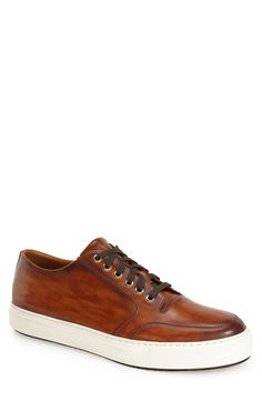 Magnanni 'Roberto' Sneaker (Men) (Nordstrom Exclusive) available at Classic Sneakers, Casual Sneakers, Leather Sneakers, Sneakers Fashion, Casual Shoes, Dorothy Shoes, Mens Boots Fashion, Komplette Outfits, Men's Shoes