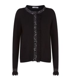 467f45815d48 Women  Knitwear D.Exterior Lurex Tweed Trim Cardigan Harrods