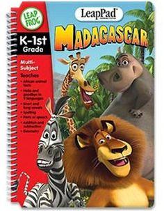 LeapFrog LeapPad Madagascar K-1st Grade Multi-Subject