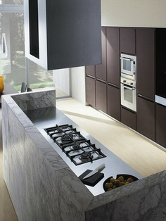 #Marble #kitchen with island FUSION by @Ernesto Meda | #Design Castiglia Associati