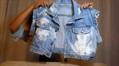 Transformando sua jaqueta jeans em colete