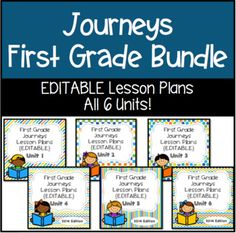 This is a free five day lesson plan for teaching with houghton journeys editable lesson plans first grade the bundle fandeluxe Images