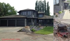 House Stone Renovation, Rock Garden, Bubbler Rock ~ Add Some Curb Appeal ~ My Front Renovation Project Finally Complete