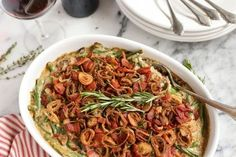For the past few Thanksgivings, I've been experimenting with creating my own green bean casserole from scratch. With fresh green beans and mushrooms. And without any canned cream soups—becaus…