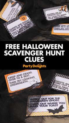 Organise a Halloween treasure hunt with our top tips for a spooky scavenger hunt. Happy Halloween, Halloween Games For Kids, Halloween Birthday, Holidays Halloween, Spooky Halloween, Halloween Treats, Trendy Halloween, Haloween Games, Halloween Decorations