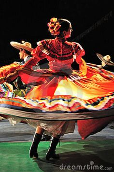 Mexican Dance Wear | Traditional Dance From Mexico Royalty Free Stock Photography - Image ...