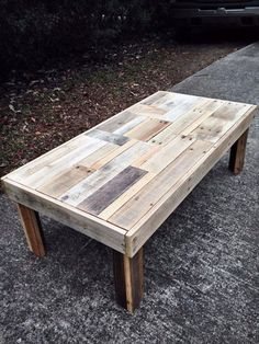 12 DIY Antique Wood Pallet Coffee Table Ideas | DIY and Crafts: