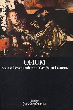 Opium YSL Jerry Hall for American Vogue December 1981