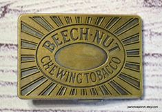 Vintage Beechnut Belt Buckle Brass Chewing Tobacco Advertising | Etsy Shipping Supplies, Vintage Cups, 20 Years Old, Belt Buckles, I Shop, Advertising, Brass, Personalized Items, Handmade