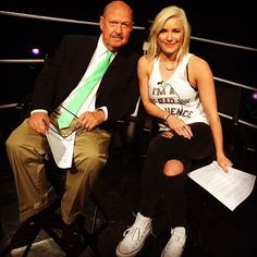 Renee Young & Mean Gene